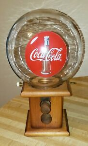 Coca-Cola 1940's Vintage Gumball Machine Dispenser / RARE - All Original !