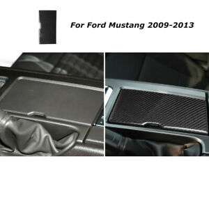 Carbon Fiber Car Water Cup Holder Panel Cover Trim For Ford Mustang 2009 2013