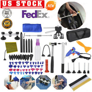 90pc Paintless Dent Removal Puller Lifter Dent Tool Line Board Repair Hammer