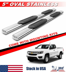 5 For 2015 2020 Chevy Colorado gmc Canyon Extended Cab Side Steps Running Board