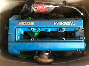 Saab 1999 2002 9 3 Viggen Valve Cover Rare Black Head B235r Rocker Cover Used