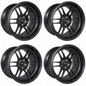 18x9 5 18x11 Mst Suzuka 5x114 3 12 10 Matte Black Wheels Rims Set 4