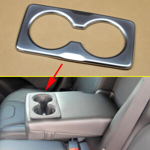 Chrome Inner Rear Water Cup Holder Cover Trim Parts For Jeep Cherokee Kl 2014 20