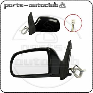 For 1998 2003 Toyota Sienna Left Side Mirror Black Manual Fold Power Heated