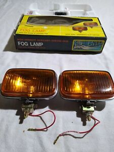 Nos Vintage Magnum Fog Lamps Lights Amber High Intensity Auxiliary Chrome 65225