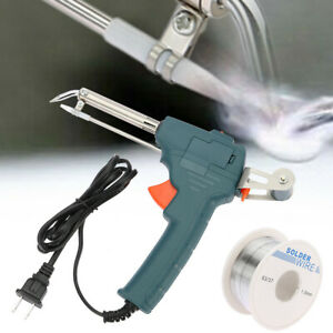 Manual Soldering Gun Electric Iron Auto Welding Tool Kit 110v 60w solder Wire