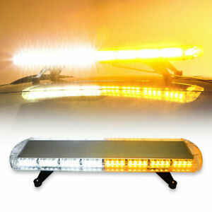 48 88 Led Amber Emergency Strobe Light Bar Roof Warn Flash Tow Truck Response