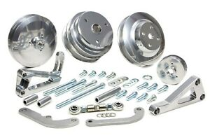 March Performance 22031 09 Aluminum Sbc Serpentine Custom Pulley Kit Fits Sbc