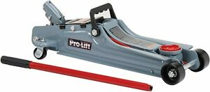 Pro lift F 767 Grey Low Profile Floor Jack 2 Ton Capacity New