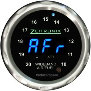 Zeitronix Zr 1 Air Fuel Ratio Gauge For Wideband Silver Blue Led