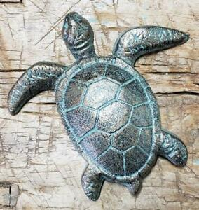 1 Cast Iron Antique Style Nautical Turtle Stepping Stone Garden Step Pond Pool