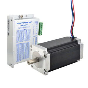1 Axis Nema 23 Stepper Motor 3nm 425oz in 4 2a Driver Cnc Mill Robot Lathe