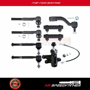 For Gmc Chevrolet C2500 C1500 Suspension 9pcs Pitman Idler Arm Tie Rod Ends Kit