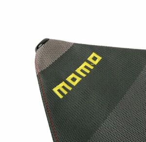 Momo Shift Knob Shifter Boot Cover Mt at W Red Stitches Racing Fabric Mix