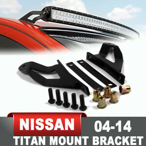 Steel Windshield Roof Mount Bracket For 2004 2014 Nissan Titan 50 Led Light Bar