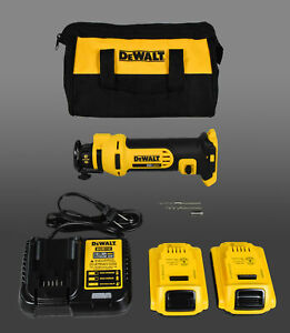 Dewalt Dcs551d2 20v Max Lithium Ion Cordless Drywall Cut out Tool Kit 2 0 Ah