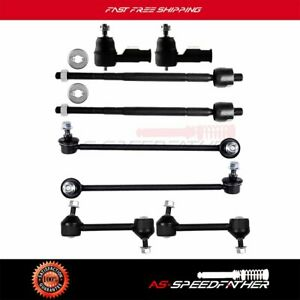 Front Suspension 8pcs Sway Bar Tie Rods Kit Parts For Hyundai Tiburon 2003 2008