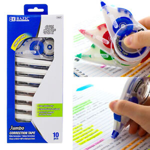 10pc Jumbo Correction Tape Student White Out Roller School Supply Stationery Lot