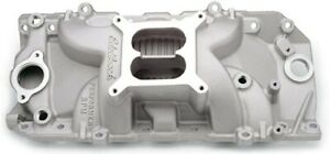 Edelbrock 7161 Bbc Oval Port Performer Rpm Intake Manifold Aluminum As cast