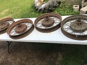 Set Of 4 Antique Ford Model A Wheels 1928 29 Rare
