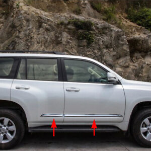 Side Door Body Molding Cover Trim Accessories For Toyota Prado J150 2014 2020