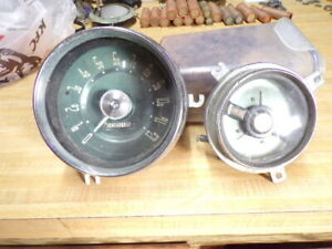 Vintage Ford Speedometer Oil Fuel Gauge Set Dodge Chevrolet Rat Rod 1950s