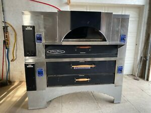 Ln Bakers Pride Stone Deck Double Stack Oven Gas Tested