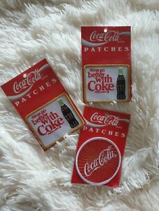*NWT Sealed* Lot of (3) Vintage 1995 Coca-Cola Patches