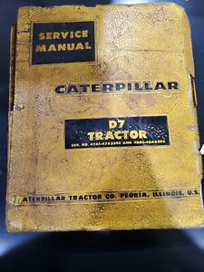 Caterpillar D7 Tractor Service Repair Manual Stained Factory Oem Deal