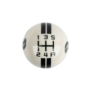 For Ford Mustang Shelby Gt500 Stick Shift Knob 5 Speed Lever Resin White Blabk