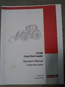 Case Ih Lx156 Front End Loader For Mxu Series Tractors Operator s Manual