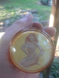Original 1950 S Vintage Spinner Steering Wheel Pinup Girlie Knob Rat Hot Rod