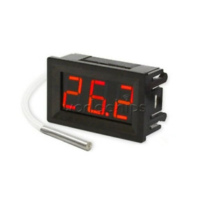 Dc 12v Digital Display Thermometer Probe Temperature Meter K Type Thermocouple