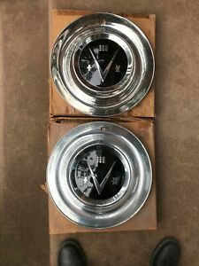 1953 Buick Roadmaster Two Nos Hubcaps In Original Boxes