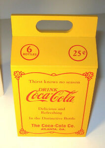COCA-COLA BOX 20's Style 6 pack Bottle Carrier Coke 7