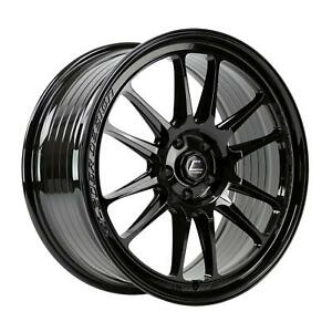 18x11 Cosmis Xt 206r 5x114 3 8 Black Wheels Rims Set 4