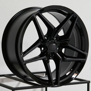 18x9 5 18x11 Mrr Flow Forge M755 Fit Corvette 5x120 65 50 55 Black Wheels Rims S