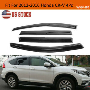 For 2012 2016 Honda Cr v 4pc Smoke Window Visors Sun Rain Wind Guards Vent Shade