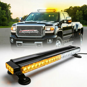 30 Led Emergency Light Bar Flash Warning Roof Strobe Beacon Amber Lights Top Car