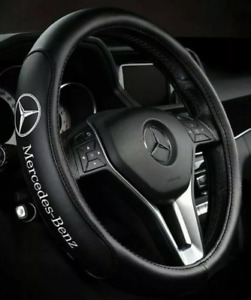 Leather Steering Wheel Cover For Mercedes Benza Benzc Benze 38cm