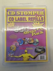 Cd Stomper Pro Cd Label Refills 150 Sheets 300 Labels sealed Brand New