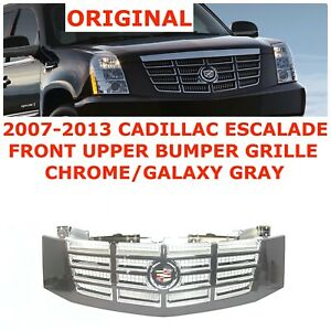 2007 08 09 10 11 12 2013 Cadillac Escalade Front Upper Bumper Grille 19260455