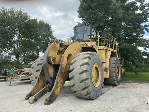 Caterpillar 990f Wheel Loader Runs Good Good Rubber Oil Analysis Available