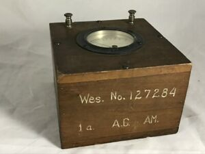 Antique Weston Electric Panel Meter Ac Amps Amperes Steampunk Wood Box Terminals