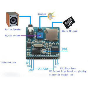 Dc 5v Voice Playback Module Board Mp3 Music Player Sd tf Card For Arduino