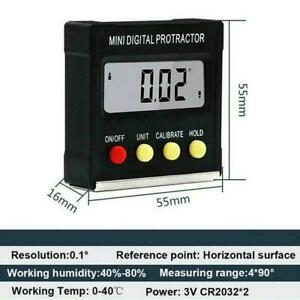 Cube Inclinometer Angle Gauge Meter Digital Lcd Protractor Level Box Electr