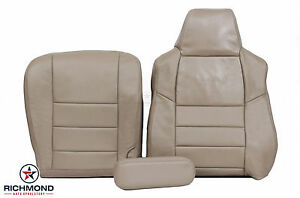 2003 Ford F250 F350 Lariat Crew Driver Side Complete Leather Seat Covers Tan