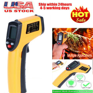 Us Non contact Lcd Ir Laser Industrial Thermometer Pyrometer Digital Thermometer