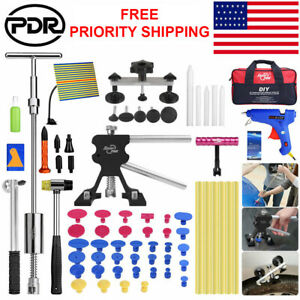 Super Pdr Paintless Dent Repair Removal Dent Puller Lifter Slide Hammer Kit