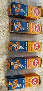Lot Of 5 Vintage Ac Fire Ring 44 Spark Plugs
